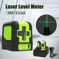 Best Promotion 2 Lines Laser Level 360 Degree Rotary Self Leveling Vertical Horizontal Level Green Cross Lights Laser Tools