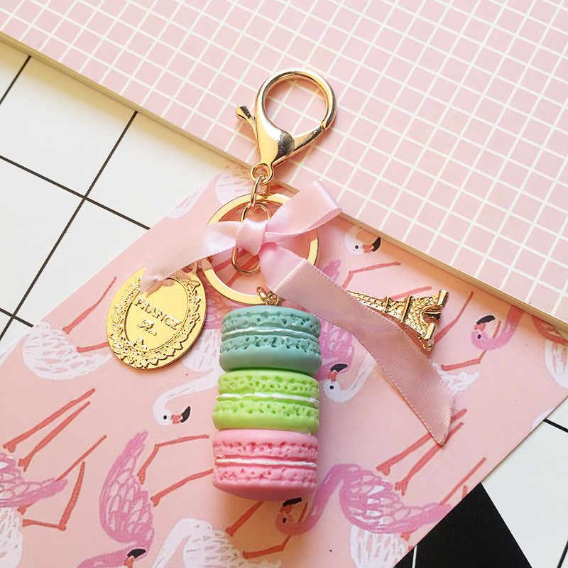 Back To School ปัจจุบันเด็กของที่ระลึกเค้ก Macaron พวงกุญแจงานแต่งงานของขวัญสำหรับผู้เข้าพักเด็กสาว Bridesmaid ของขวัญ PARTY Favors