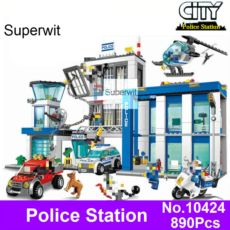 Superwit BELA 10424 Compatible Lepin City Police Station 60047 Figure Building Blocks Bricks Emma Mia Figures Toys For Children compatible lepin city block police dog unit 60045 building bricks bela 10419 policeman toys for children 011
