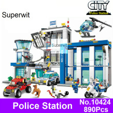 Superwit BELA 10424 Compatible Lepin City Police Station 60047 Figure Building Blocks Bricks Emma Mia Figures
