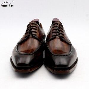 Image 4 - Мужская классическая кожаная обувь cie, мужская офисная обувь, мужские костюмы из натуральной телячьей кожи, деловые кожаные туфли ручной работы No.7
