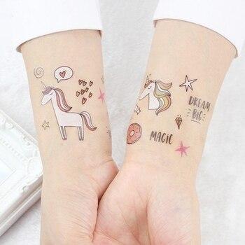 1 Pc de tatuaje para chico lindo falso temporal del arte de cuerpo impermeable etiqueta engomada del tatuaje temporal
