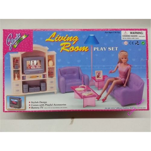Miniature Furniture My Fancy Life Living Room Set for Barbie Doll House Best Gift Toys for