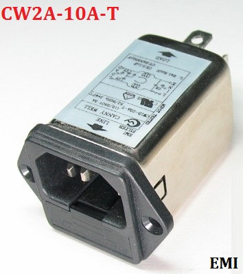 10A 115/250VAC IEC insurance amplifier chassis socket type AC power line filter with filter CW2A-10A-T  цена и фото