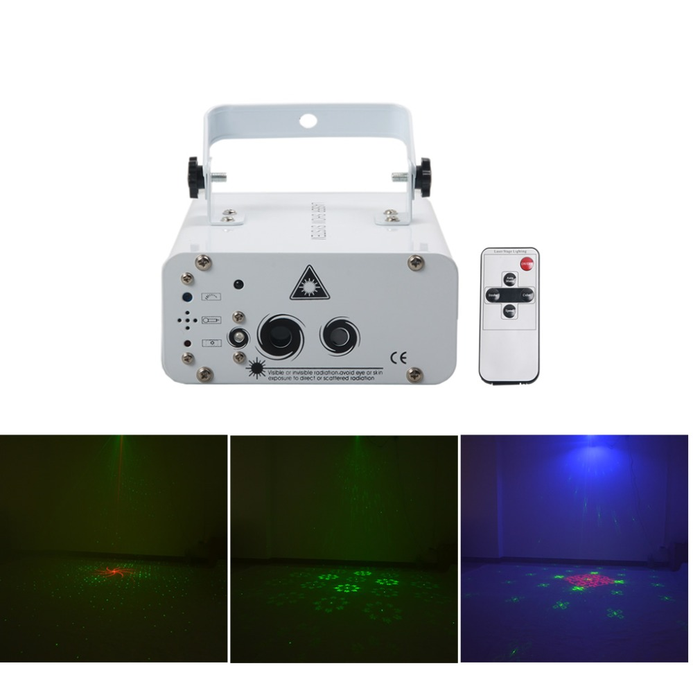 40 In 1 Red Green Laser Big Pattern Mixed Blue LED Projector Light Remote Sound Auto DJ Home Party Show Stage Lighting xmt-40rg цены онлайн