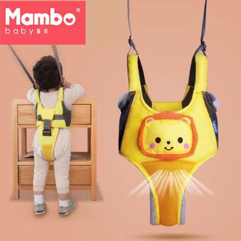 Bebé niño arnés niño guardabosque saltador puente aprender bebé arnés mochila Walker asistente bebé correas bibi voz caminar cinturón