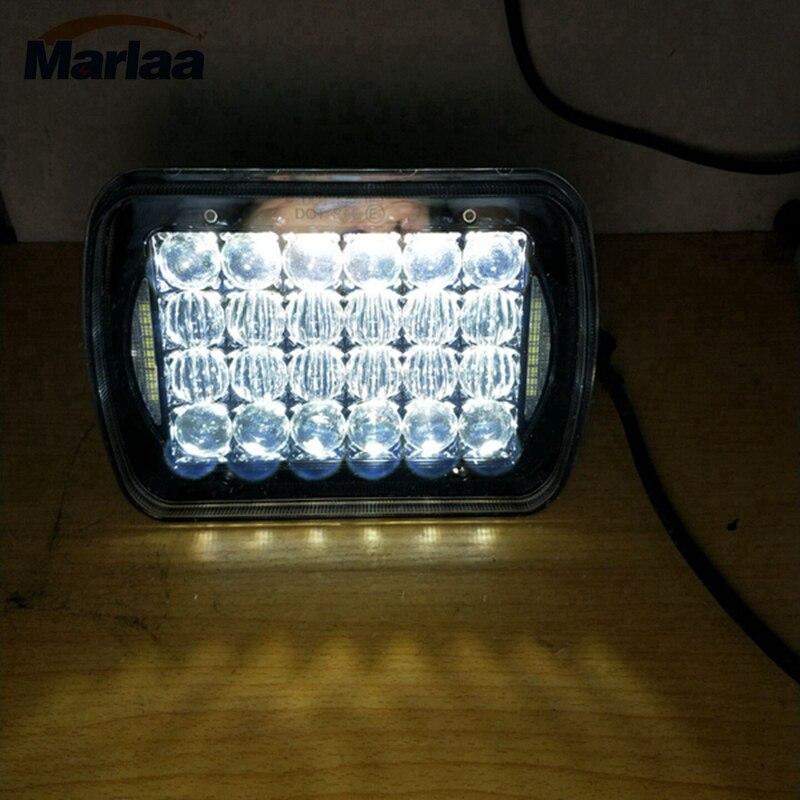 1pcs LED Headlight 5X7 7X6 Sealed Beam Square H6014 H6052 H6054 6054 for Kenworth T300 1997-2010 аккумулятор yoobao yb 6014 10400mah green