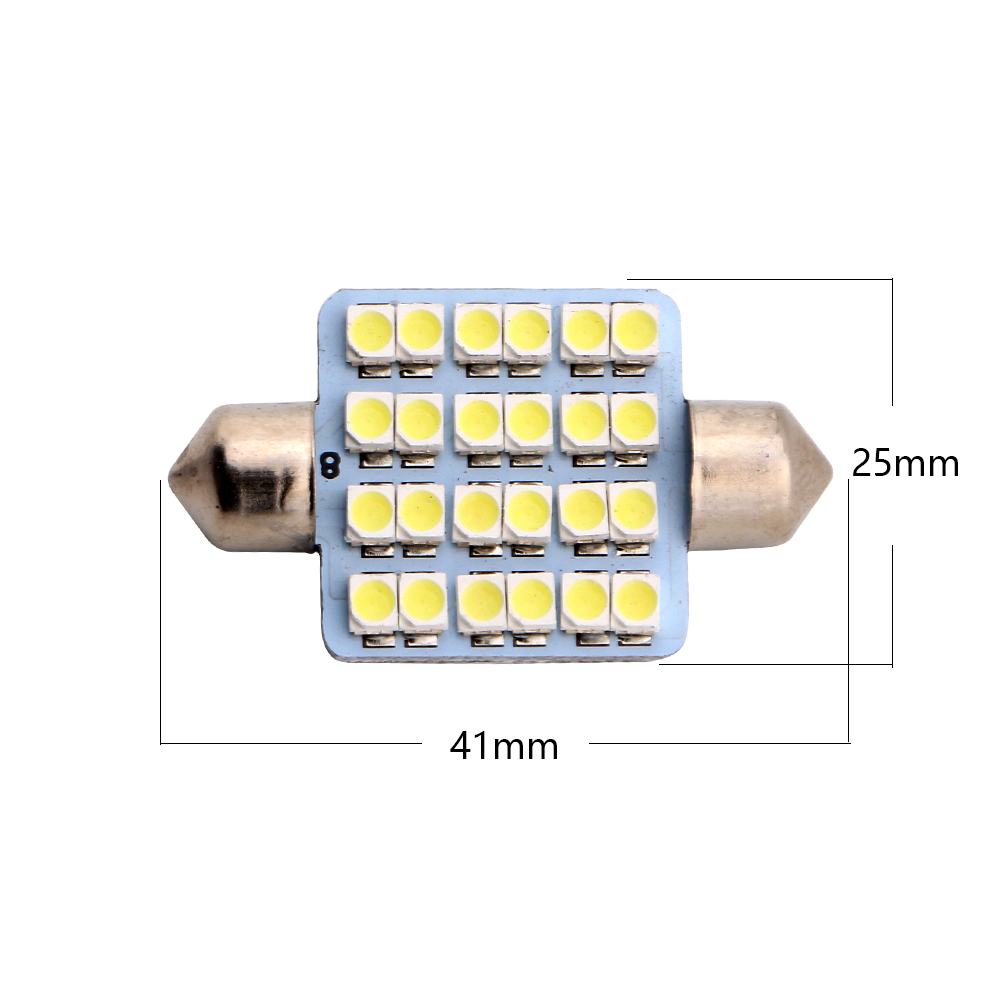 6-200pcs 41mm Festoon 12V 1210 1206 24 SMD LED Ceiling Lamp Pate Number Light White Red Blue Green Amber Colors Free Shipping