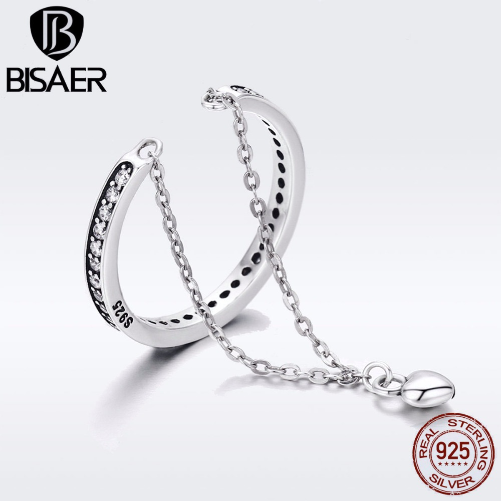100% 925 Sterling Silver To My Special Love Heart Dangle Double Layers Finger Rings for Women Girl Sterling Silver Jewelry Gift