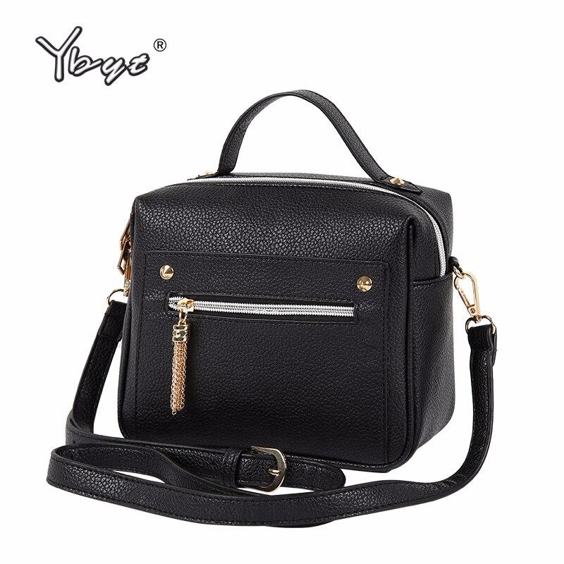 YBYT Brand 2019 New Fashion Casual PU Leather Solid Women Handbags Hotsale Ladies Shopping Bga Shoulder Messenger Crossbody Bags