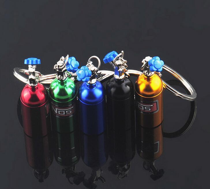 Nos Bottle Turbo Key Chain Nitrous Oxide Bottle Keyring Stash Storage Pill Vario