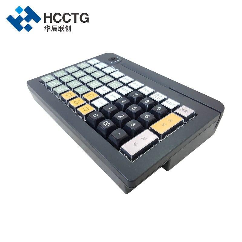 50Keys  USB Membrane Programmable POS Keyboard With MSR Reader KB50M