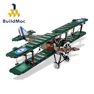 BuildMOC для 10226 Эксклюзивный Набор игрушек Sopwith Camel, Набор игрушечных блоков, кубики, подарок на день рождения, обучающий подарок S003