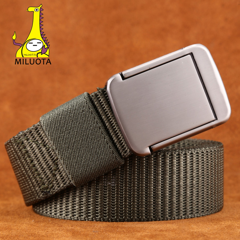 2018 Military Equipment Tactical Belt Man Double Ring Buckle Thicken Miluota