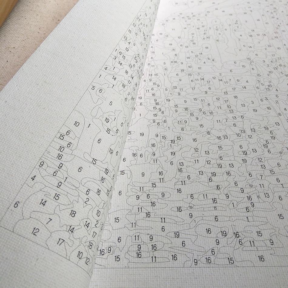 RUOPOTY Europa Blomma Abstrakt Diy Målning Med Numbers Kits - Heminredning - Foto 3