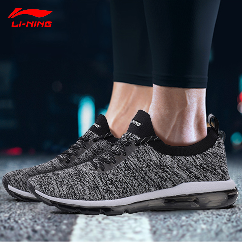 Li Ning Men BUBBLE MAX KNIT Walking Shoes Breathable Wearable LiNing Comfort Sports Shoes Sneakers AGLN055