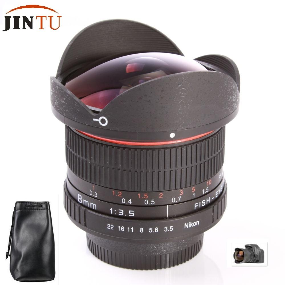 JINTU 8mm F/3.5 Ultra Wide Angle Fisheye Lens for APS-C/ Full Frame ...