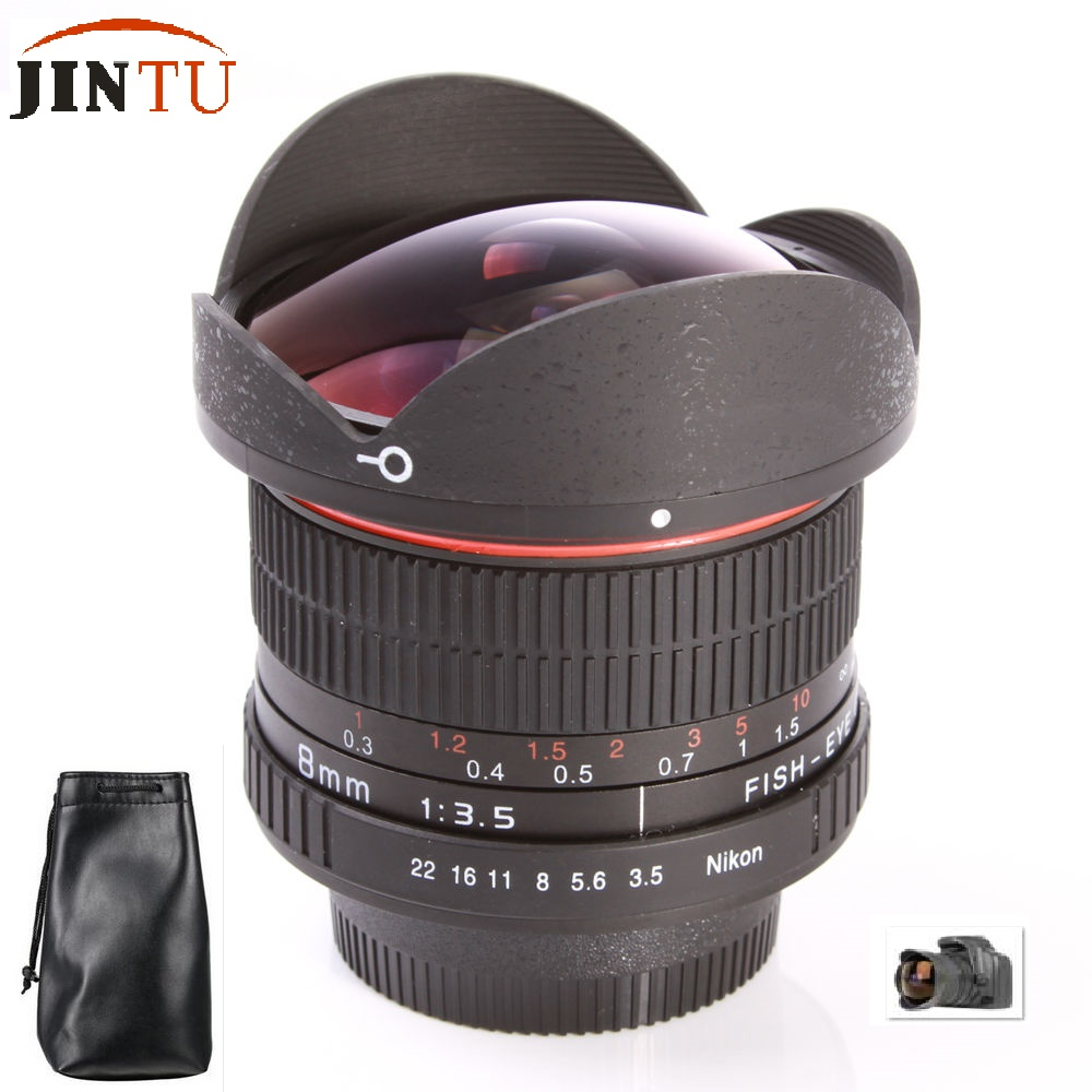 JINTU TOP 8mm F/3.5 Ultra Wide Angle Prime Fish eye Lens For Canon EOS 5D MARK III II 7D 60D T3 T2i SL1 T1i XS XSi DSLR Camera new canon eos 1200d dslr camera body with ef s 18 55mm f 3 5 5 6 iii lens black