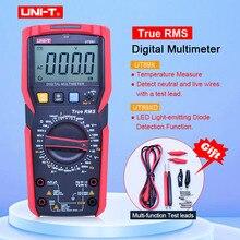UNI-T UT89X/UT89XD true RMS цифровой мультиметр 20A Высокоточный цифровой мультиметр НТС/конденсатор/Триод/температура/светодиодный тест