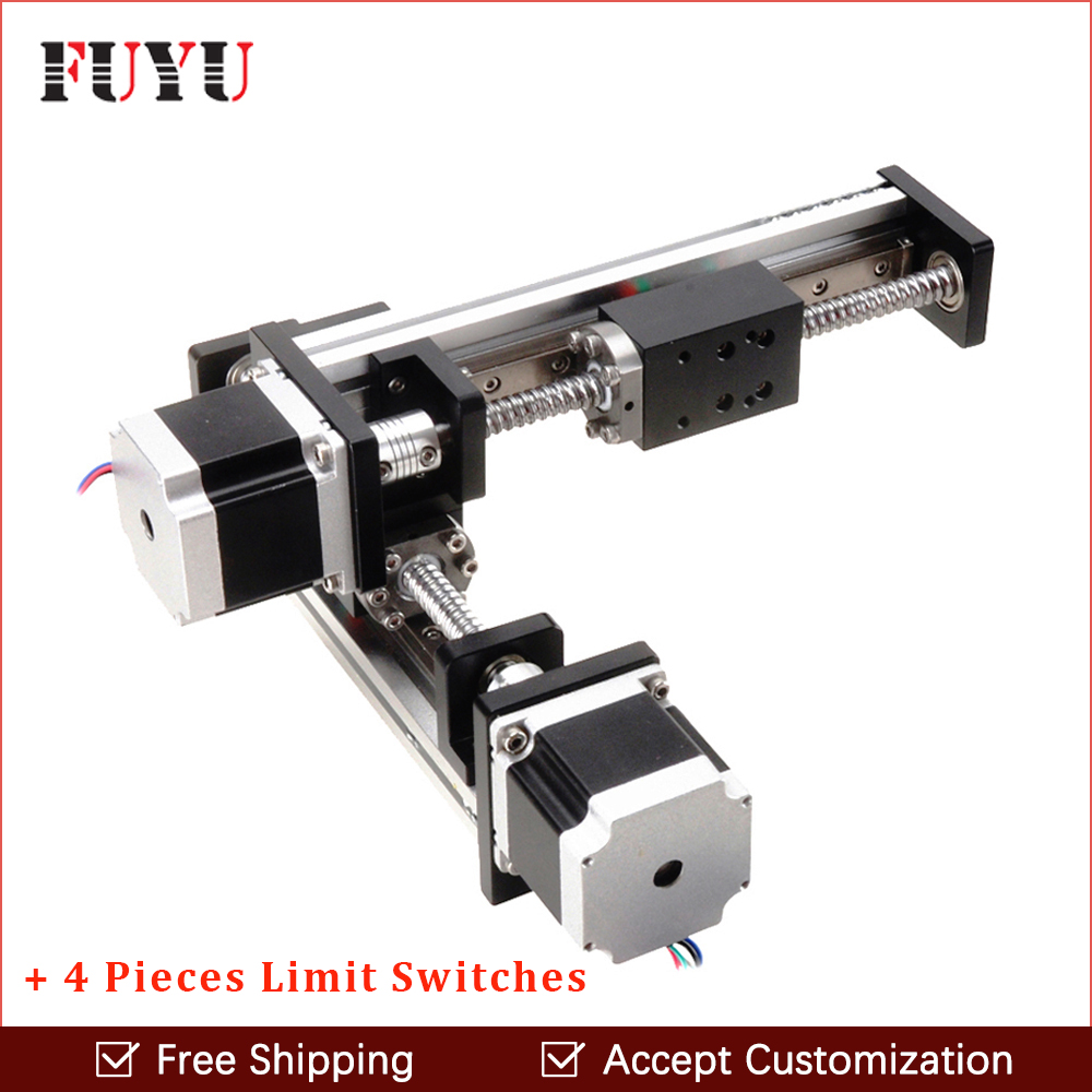 Free Shipping FLS40 linear guide rail stage slide module ball screw for XY axis robotic arm thread rod accept customization free shipping factory sale ball screw linear guide rail xyz motorized stage table robotic arm z axis 300mm with motor