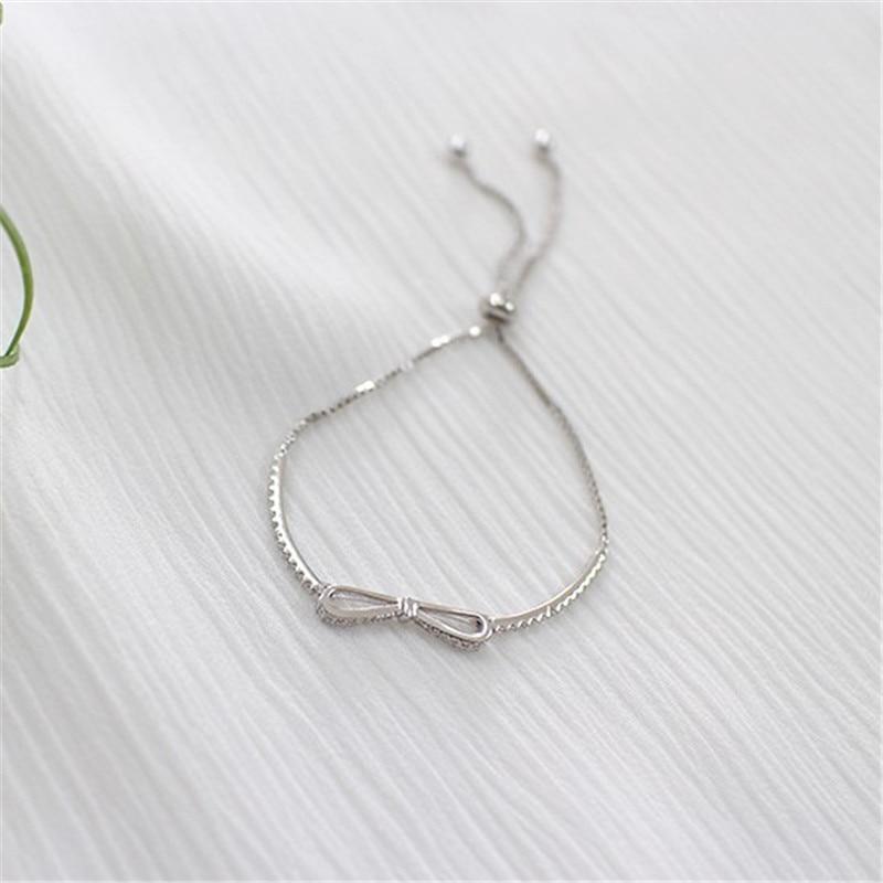 Jsmpfy Fashion Real 925 Sterling Gümüş Bilərzik Qutusu Zəncir - Gözəl zərgərlik