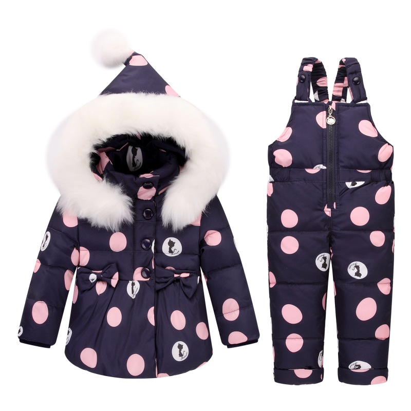 Winter Down Jacket Children's Sets Girl White Duck Down New Year  A Lively Girl Dressed Down Jacket  In Park Happy To Play lole капри lsw1349 lively capris xs blue corn