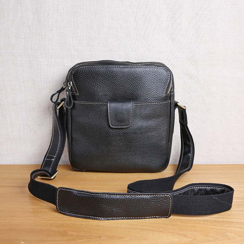 AETOO Leather Men's Bag Shoulder Messenger Bag Vertical Top Layer Leather Business Casual Leather Bag цена