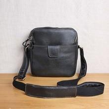 лучшая цена AETOO Leather Men's Bag Shoulder Messenger Bag Vertical Top Layer Leather Business Casual Leather Bag