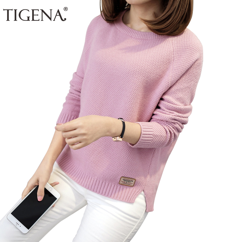 TIGENA Thick Warm Winter Sweater Women 2018 Knitted Pullover Female Jumper Tricot Pullover Women's Winter Tops Pull Femme