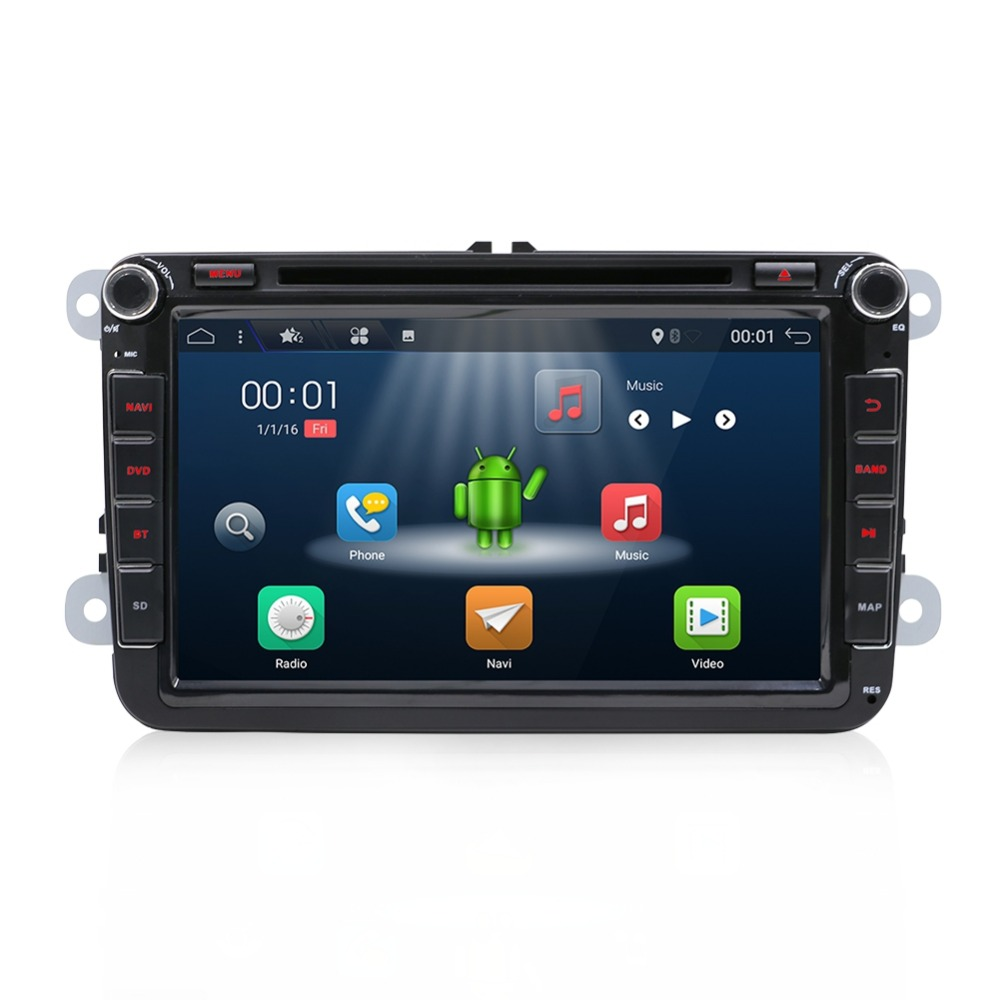 Bosion 2 Din 8 inch Quad core Android 7.1 car dvd for VW Polo Jetta Tiguan passat b6 cc fabia mirror link wifi Radio CD in dash-in Car Multimedia Player from Automobiles & Motorcycles    3