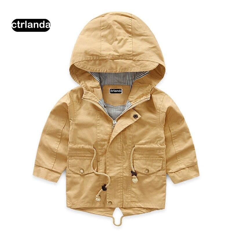 Дети мальчик куртка с капюшоном пальто Дети хлопковая ветровка для маленьких девочек Повседневная Верхняя одежда с капюшоном детская одеж...