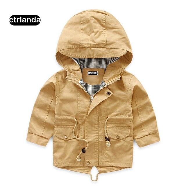 Дети мальчик куртка с капюшоном пальто Дети хлопковая ветровка для маленьких девочек Повседневная Верхняя одежда с капюшоном детская одежда Весенняя куртка для мальчиков