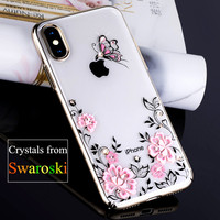 KINGXBAR For IPhone X Case Swarovski Element Rhinestone Capa Crystal Diamond Case For IPhone X Case
