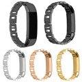 Nueva Llegada 4 Colores correas de Reloj 14mm Venda de Reloj de Pulsera de Acero Inoxidable de Oro Rosa Correa De Fitbit Alta Perseguidor de Alta calidad