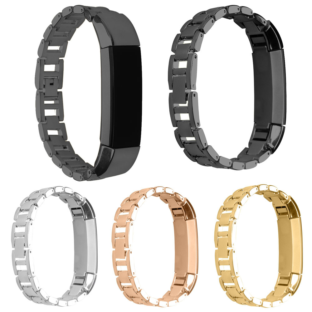 цены Watch Strap 4 Colors 14mm Replacement Stainless Steel Bracelet Watch Strap For Fitbit Alta Tracker High Quality Watchbands 2018