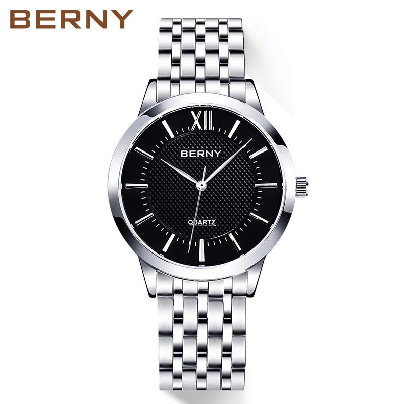 Classic Quartz Mens Watches Fashion Top Luxury Brand Relogio Saat Montre Horloge Masculino Erkek Hombre JAPAN MOVEMENT BERNY