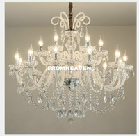 Modern Limpar Branco E14 Vela Lustres de Cristal Quarto Sala de Estar Sala de Jantar Moderna Lustre de Decoração de Casa 100% Garantido