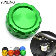 For Kawasaki Z1000 Z1000SX ZX10R 2008-2014 Z750 Z750R Z800 ZX6R ZX300R Z900 Motorcycle CNC Front brake Fluid Reservoir Cap Cover 38mm motorcycle accessories rear brake reservoir cap for kawasaki z1000 2007 2013 z750 2007 2014 zx6r 07 08