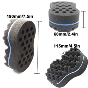 Image 4 - brand double sided wave shaped sponge brushes multi holes side braid Twist hair curl wave Hair sponge brush hair styling tools