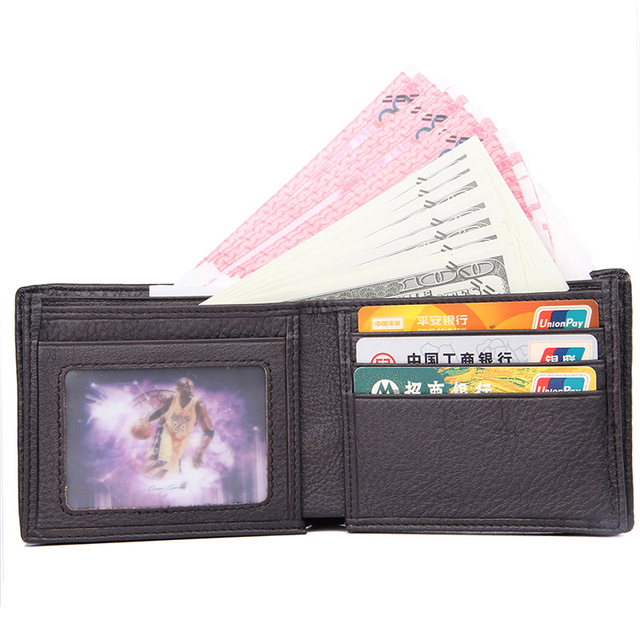 J.M.D J.M.D High Quality Cow Leather Casual And Business Wallet Two Folds Short Coffee Wallet Two Folds Card Holder 8147-3C