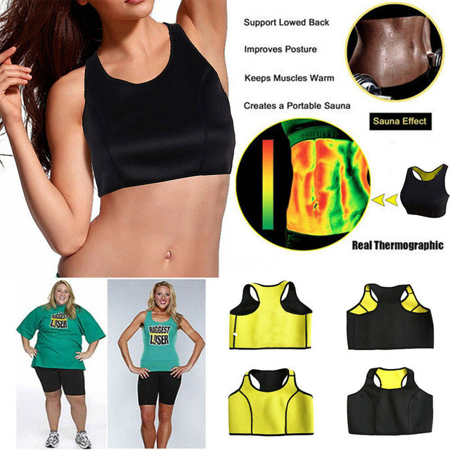 HEXIN Women Sauna Vest and Waist Sweat Neoprene Body Shaper Fitness Slimming Workout Fat Burn Waist Trainer (Bra + Belt) 3