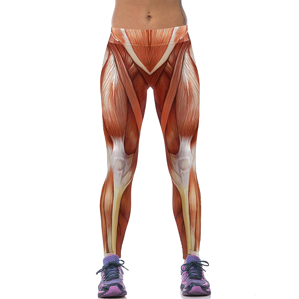 EAST-KNITTING-F1473-Fashion-Women-New-Sports-Leggings-3D-Sexy-Muscle-long-length-leggings-