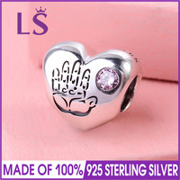 LS 100% Real 925 Silver Baby Girl Charm Fit Original Bracelets Pulseira Encantos Beads DIY Jewelry