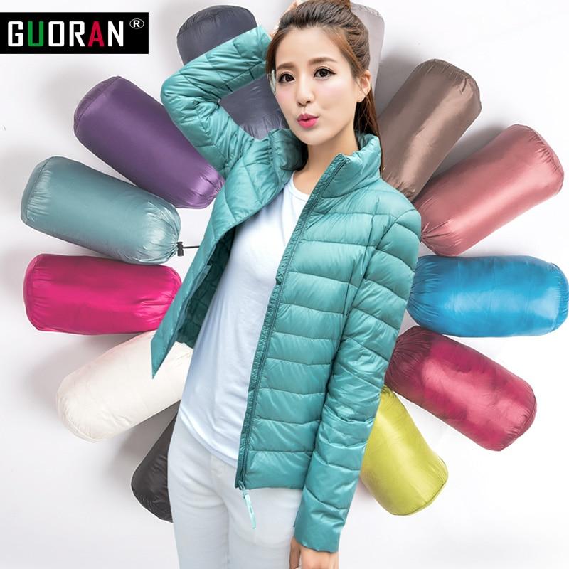 Kış ceket ceket 2016 90% beyaz ördek Aşağı Parka ceketler Kadın Kadınlar 14 renkler Için Sıcak İnce kız dış giyim Ve Mont