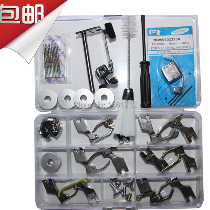 Industrial Sewing Machine Presser Foot Set Of Needle Brush The Bobbin Bobbin Case Indeed 22 Kinds Of Accessories