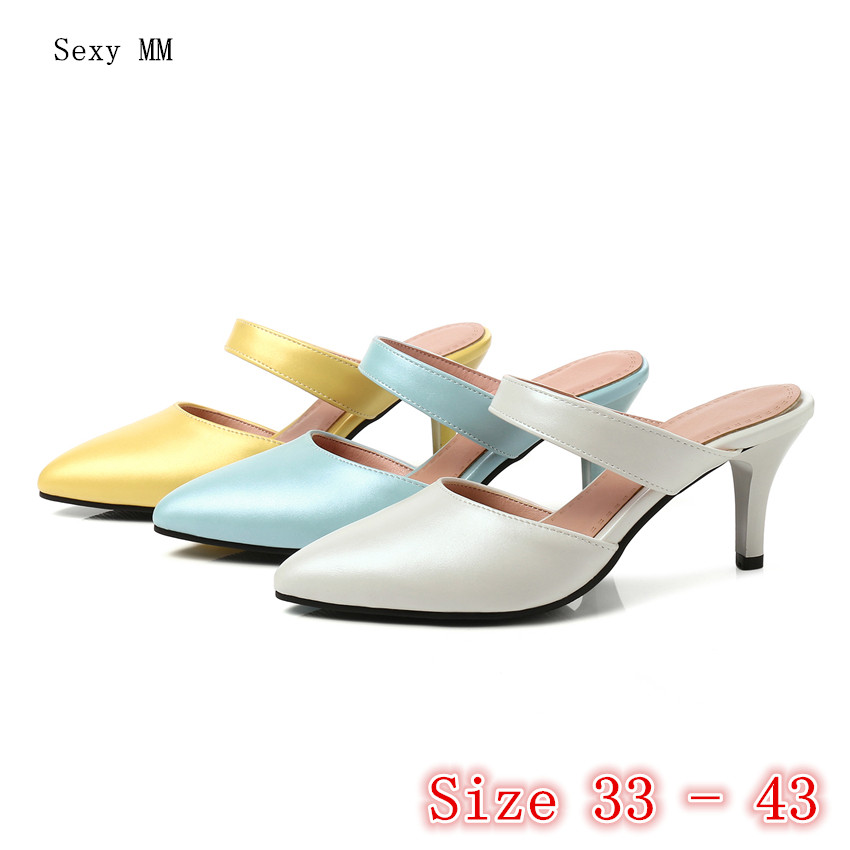 Summer High Heels Slingbacks Women Pumps High Heel Shoes Stiletto Woman Party Wedding Shoes Small Plus Size 33 - 40 41 42 43