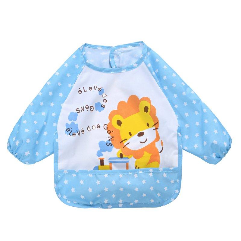 Cute Children Bib Cartoon Printed Long Sleeve Baby Bib Infant Waterproof Apron Clothing 8 Pattern for Choose Childrens Clothing