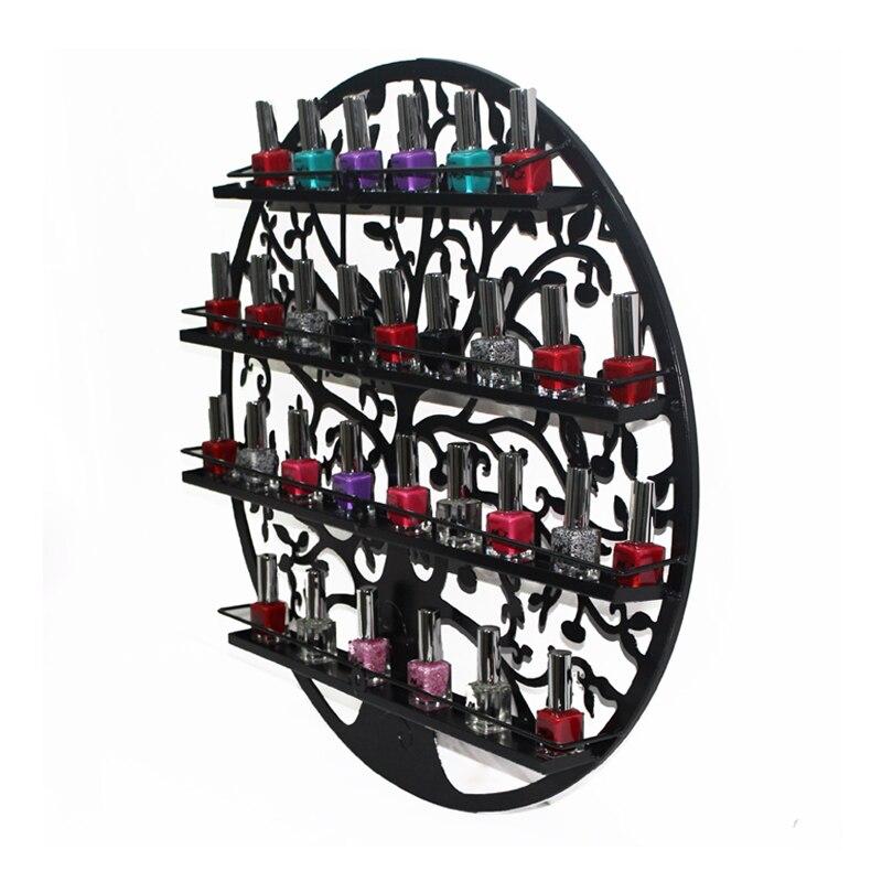 Mordoa Limited étagère écologique de stockage de haute qualité Art vernis à ongles Rack 60*60 CM circulaire mur magasin étagères bijoux affichage