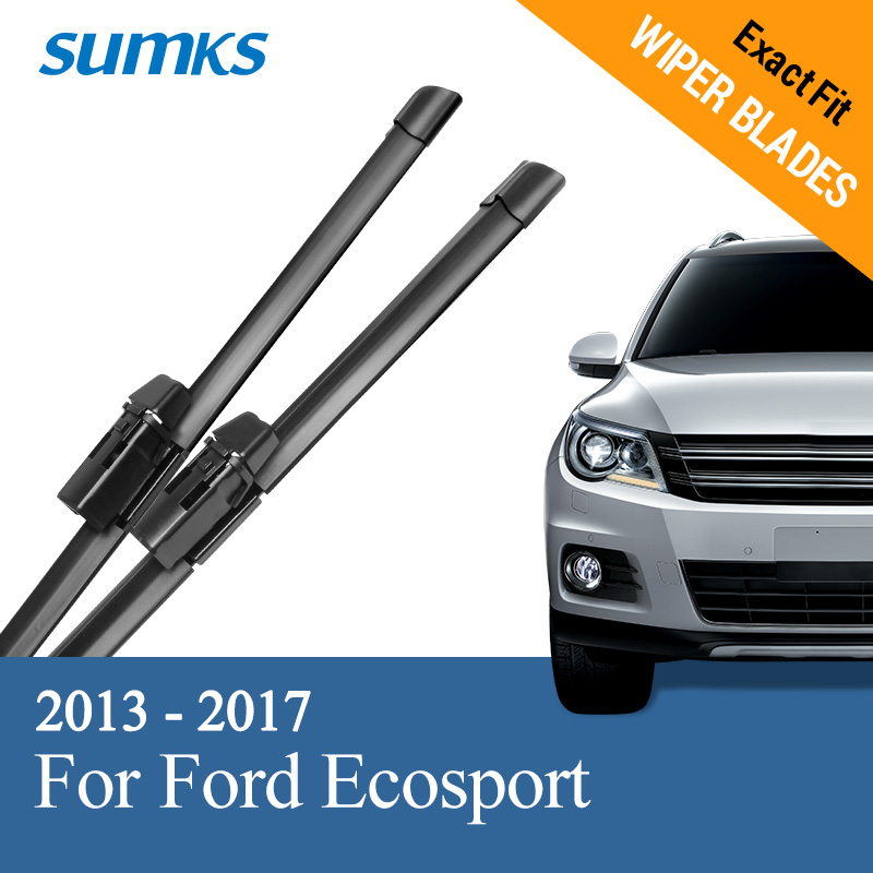 "SUMKS Escovas do limpador para Ford Ecosport 22 ""& 16"" Fit Top Lock Lock Arms / Push Button Arms 2013 2014 2015 2016 2017"