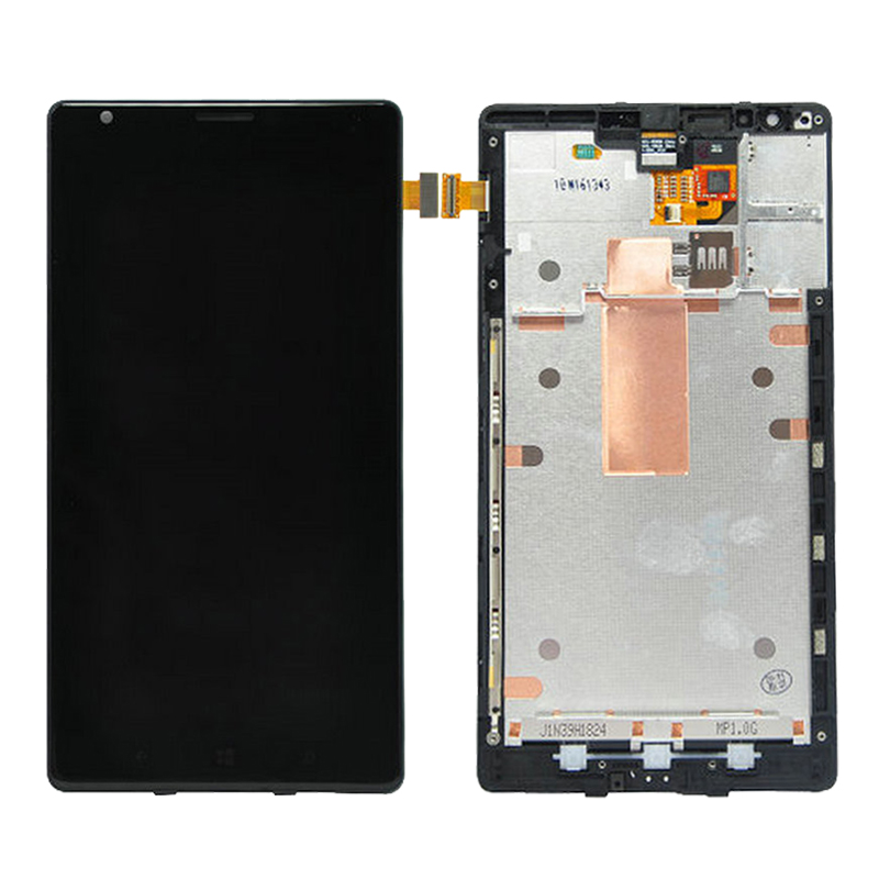For Nokia Lumia 1520 LCD Display Touch Screen Digitizer Assembly Frame Replacement Parts Free Shipping